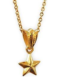 aBALENT(アバレント)18k スターネックレス 星 ゴールド ほし ネックレス ゴールド スター ネックレス 18金 18K ミニ スター ステンレス チェーン付 45cm メンズ レディース ネックレス