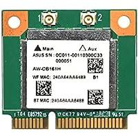 Realtek RTL8821AE デュアルバンド 802.11ac/abgn 433Mbps + Bluetooth 4.0 PCI express mini half 無線LANカード