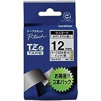 ブラザー工業 TZeテープ ラミネートテープ(TZe-231S・2本/TZe-631S・1本) 12mm 5m巻 3本パック TZe-31V3