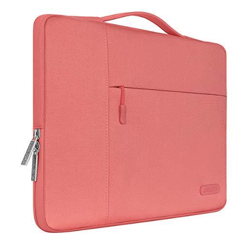 Mosiso ポリエステル 多機能 インナーバッグ 手提げバッグ プロテクターケース 13-13.3インチ ラップトップ/ノートブック/MacBook Air/MacBook Pro用 キャリングバッグ(リビングコーラル)