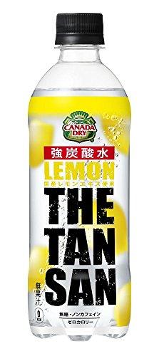 カナダドライ ザ タンサン レモン 強炭酸水 PET 490ml×24本