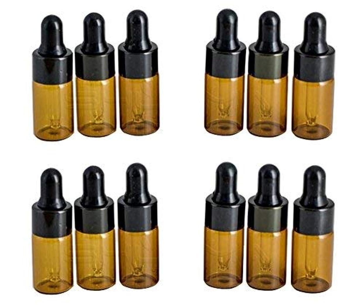 帰する生物学ガム12PCS 3ml/3ML Empty Refillable Amber Glass Essential Oil Bottles Makeup Cosmetic Sample Container Bottle Pot with...
