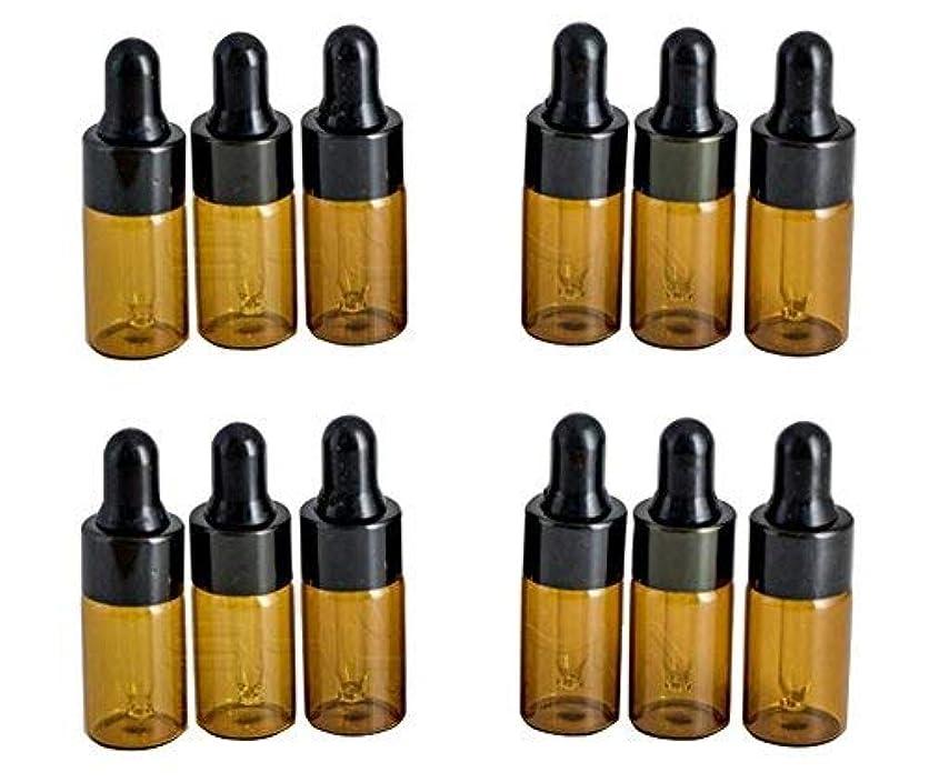 コントロール永久送金12PCS 3ml/3ML Empty Refillable Amber Glass Essential Oil Bottles Makeup Cosmetic Sample Container Bottle Pot with...