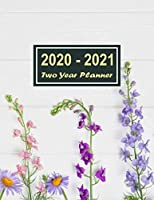 2020-2021 Two Year Planner: Sweet Flower for Women Two Year Planner, Two Year Calendar 2020-2021, Daily Monthly Planner 2020 Size 8.5 x 11 Inch, Business Planners, Agenda, Schedule, Organizer, Planner Prayer Journal, Planner 2020-2021 Daily