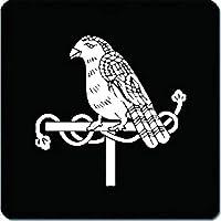 家紋 捺印マット 使い鷹紋 11cm x 11cm KN11-1639W 白紋