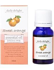 デイリーディライト エッセンシャルオイル  スイートオレンジ 10ml(天然100% 精油 アロマ 柑橘系 フルーティで甘く爽やかな香り)