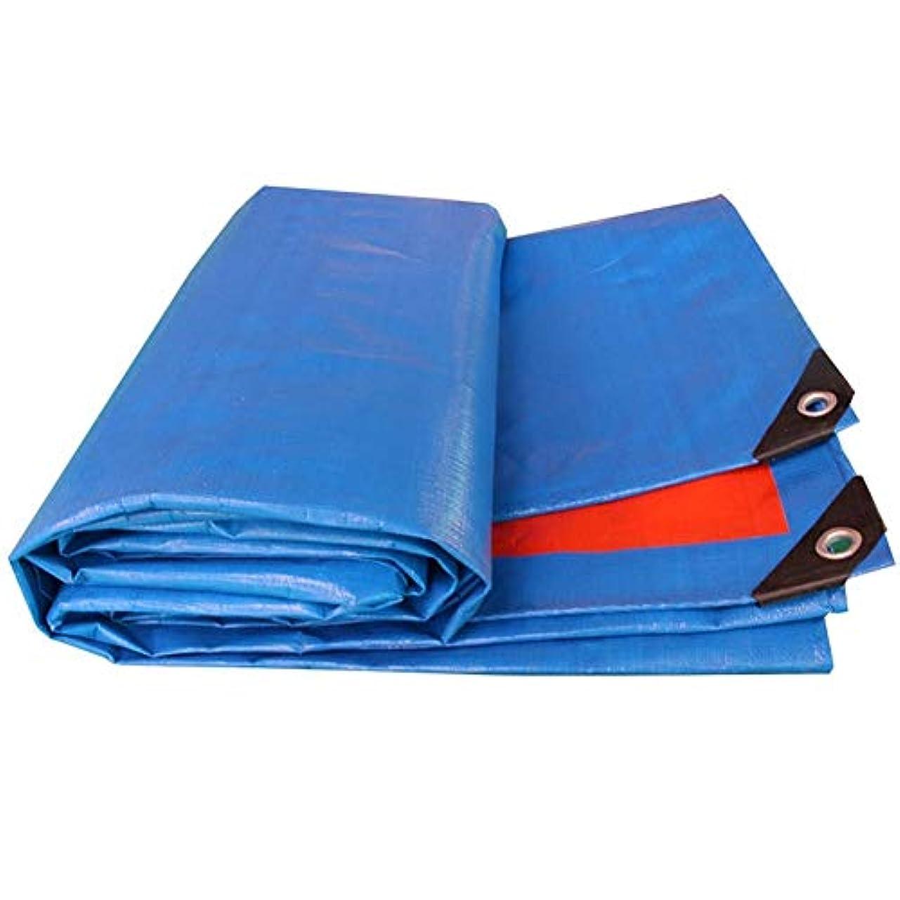 本部ソフィー戻す防水シートは多機能の屋外の日焼け止めの防水耐久力のあるリノリウムのプラスチック布を厚くしました複数のサイズはカスタマイズすることができます GMING (色 : 青, サイズ さいず : 8x10m)