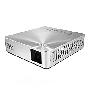 ASUS 小型ミニ プロジェクターS1 ( 軽量342g / 高さ3cm / 200ルーメン / HDMI MHL対応 / 6,000mAhバッテリー内蔵 / 投影距離約0.73m / DLP方式 )