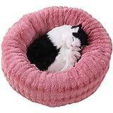 feelingood Warm Donut Cuddler Cats Dog Bed Plush Dog Soothing Bed Pet Sleeping Mat