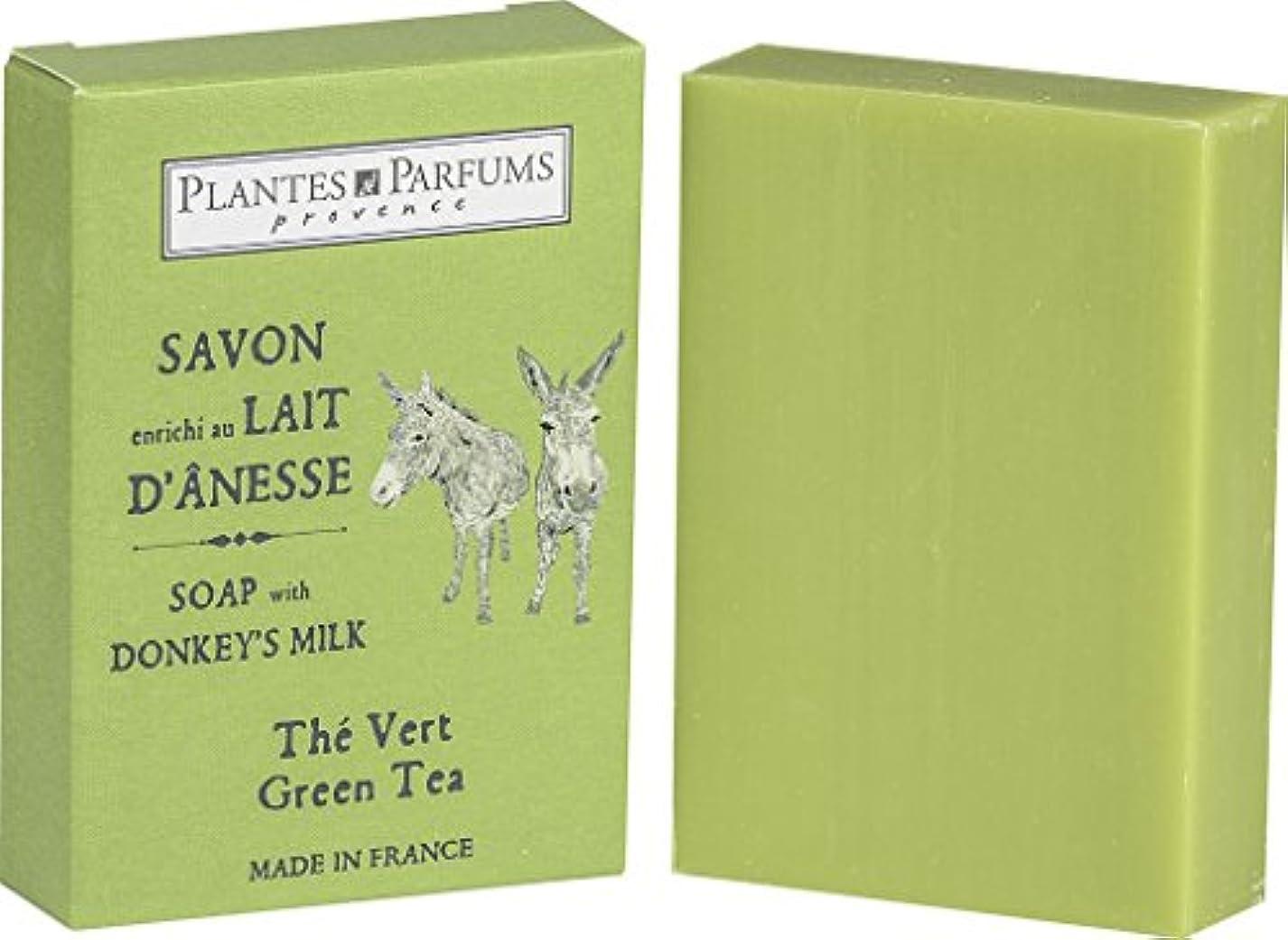 メタリック保全の慈悲でPlantes&Parfums [プランツ&パルファム] ロバミルクソープ100g グリーンティ