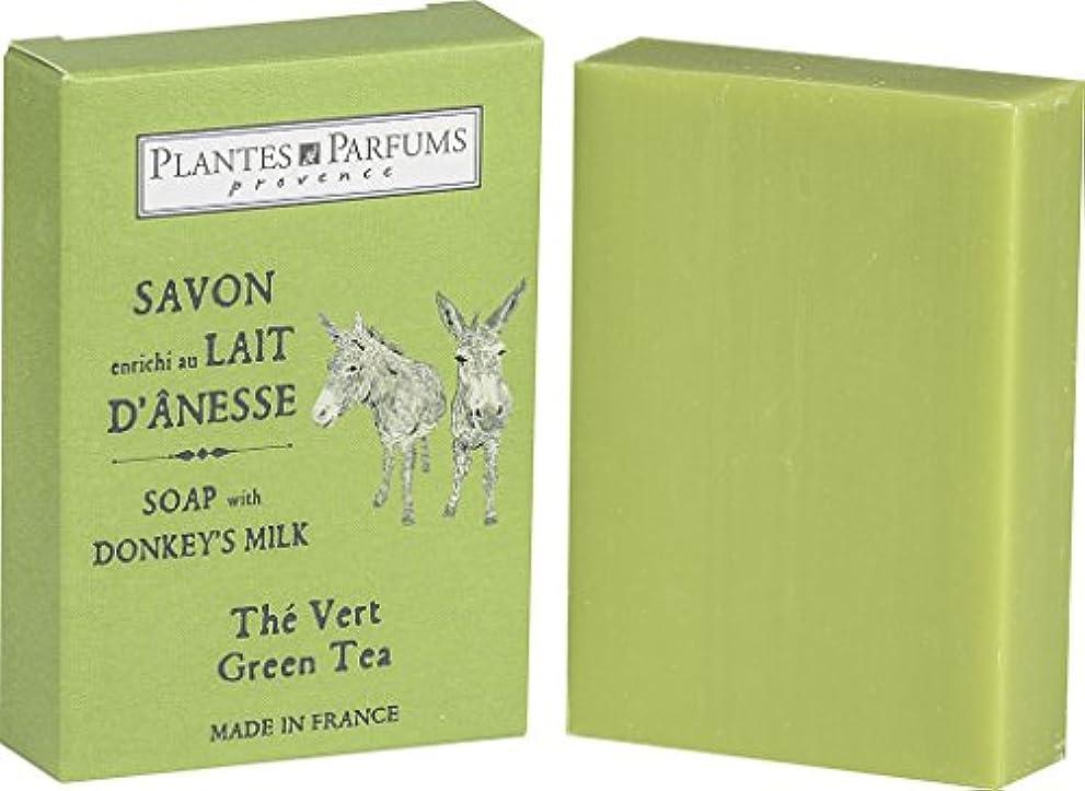 迷惑密囚人Plantes&Parfums [プランツ&パルファム] ロバミルクソープ100g グリーンティ