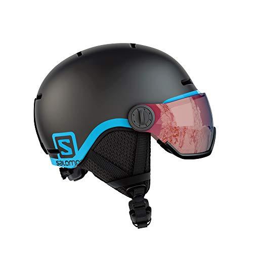 サロモン(SALOMON) スキー スノーボード バイザーヘルメット キッズ GROM VISOR Black KMサイズ L39916300