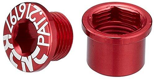 KCNC チェーンリング ボルト ダブルヨウ 5PCS  M8.5X0.75X6B M8.5X0.75X7N レッド 263102