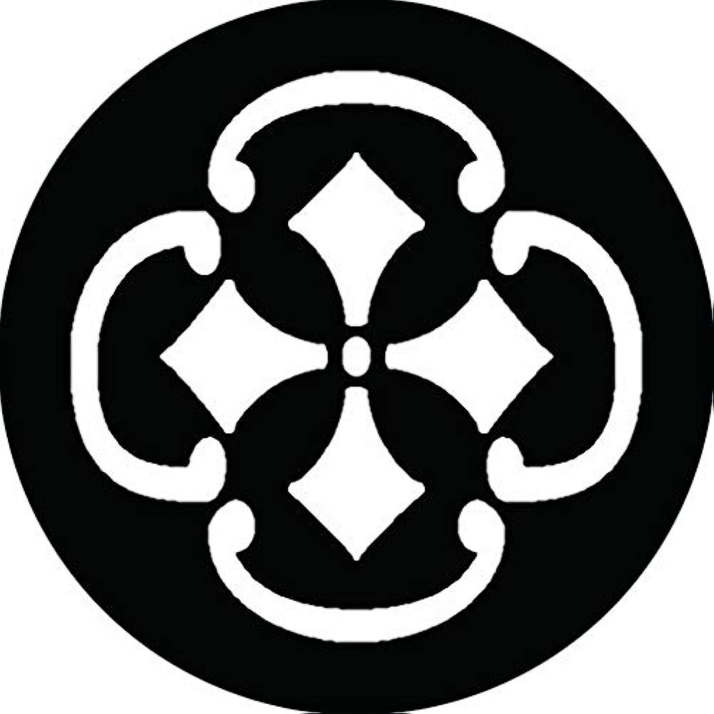 家紋シール 木瓜鐶に剣菱紋 布タイプ 直径40mm 6枚セット NS4-2951