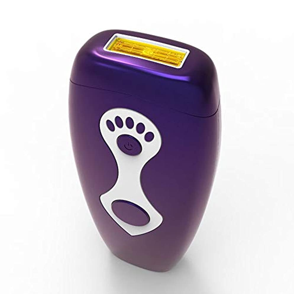 最小化する救援ホラーパーマネント脱毛、家庭用ニュートラルヘアリムーバー、柔らかい肌、マルチ運動エネルギー、安全性、グレード5無料調整、サイズ7.5×16.5 Cm 快適な脱毛 (Color : Purple)