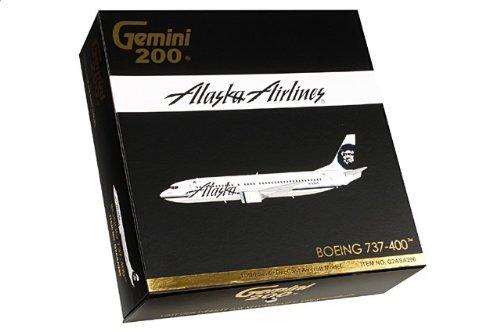 1:200 ジェミニジェット 200 G2ASA296 ボーイング 737-400 ダイキャスト モデル アラスカ 航空 N769AS並行輸入品