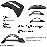 Cool & Fresh Back Massage Stretcher With Multi-level Adjustment Arch - Waist Neck Relax Spine Pain Relief