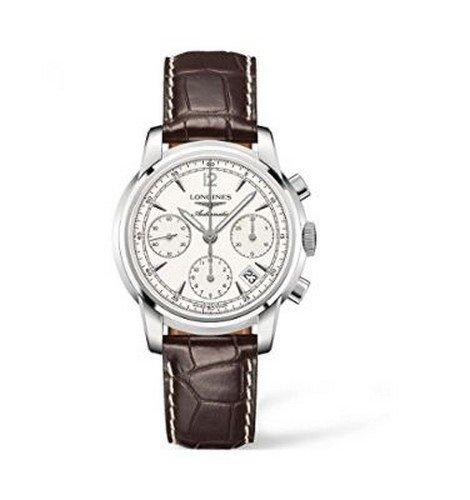 ロンジン サンティミエ クロノグラフ アリゲーターレザー 腕時計 メンズ LONGINES L2.753.4.72.0[並行輸入品]