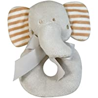 Stephan Baby Gift-Boxed Velvety Plush Ring Rattle, Ellie The Elephant by Stephan Baby
