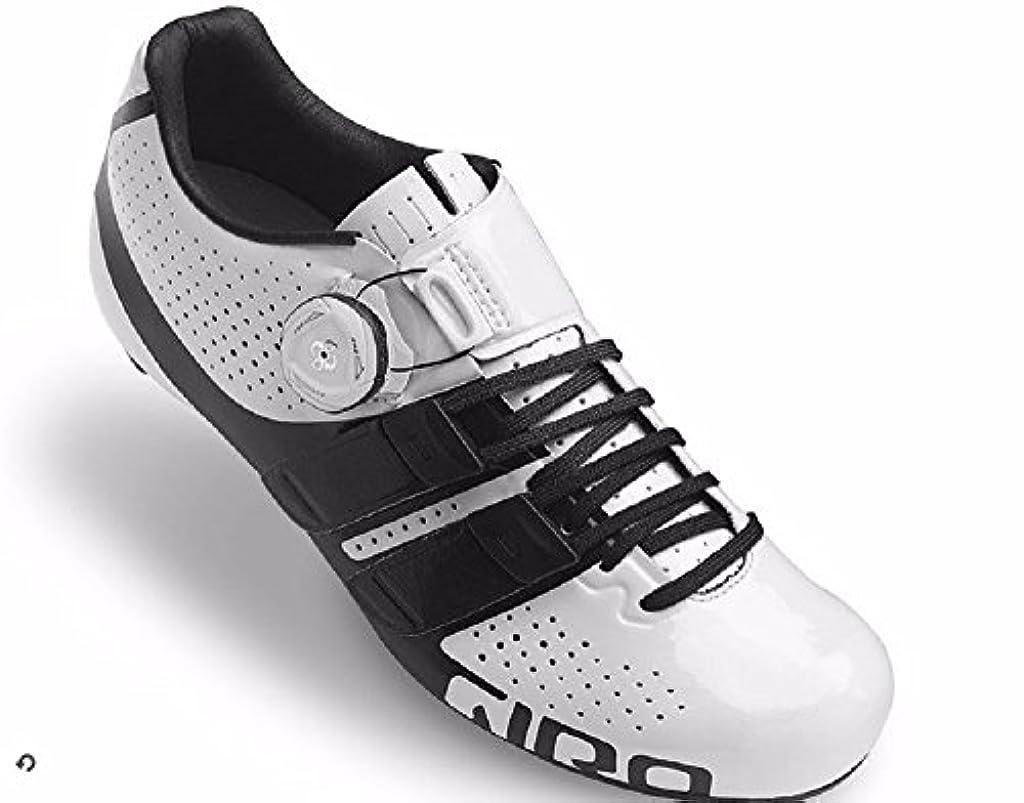 カレンダー栄光人柄Giro Factress techlaceホワイトブラックレディースロードバイク靴サイズ36