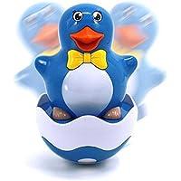 Keaner新生児幼児Roly - Poly玩具多機能漫画ペンギンタンブラー音楽サウンドおもちゃ教育玩具(ブルーペンギン)