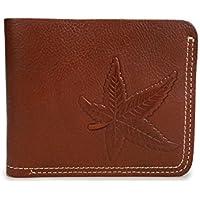 LDUNDUN-BAG, 2019 Vintage Leather Men's Bag Men's Wallet Cowhide Leather Light Leather Short Wallet (Color : Brass, Size : S)