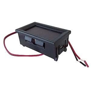 SODIAL(R) ミニデジタル自動車の電圧計4.5-30V赤いのLED