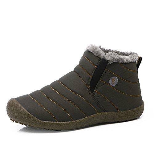 Aeepd スノーブーツ 防寒靴 メンズ レディース 雪靴 ブーティ 防水 防滑 履き脱ぎやすい 冬用 裏起毛 撥水加工 男女兼用