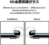 【2枚セット】iPhone 8 / iPhone 7 用 ガラスフィルム Miyosa 炭素繊維 3D全面 全面保護フィルム 6.1インチ 強化ガラス 日本旭硝子製 透過率99.9% 9H硬度3D全面保護 気泡ゼロ 自己吸着 飛散防止 指紋防止 (ブラック) 画像