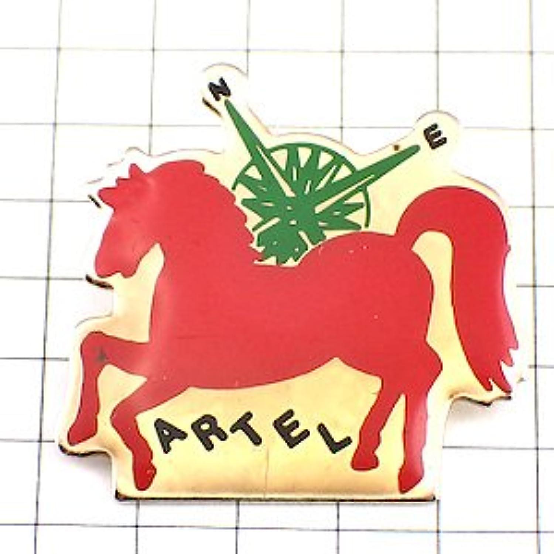 限定 レア ピンバッジ 赤い馬と方位コンパス羅針盤 ピンズ フランス