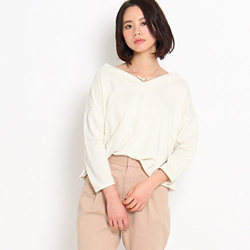 (クチュールブローチ) Couture Brooch 【WEB限定・80%OFF】リップルボーダーカットソー 50812326 38(M) オフホワイト(003)