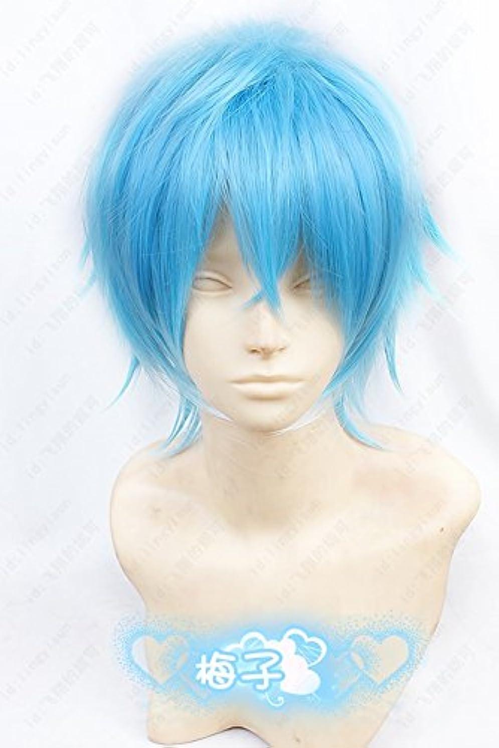 感動する推進、動かす制裁カーニヴァルkarneval 嘉禄風水色ショットヘア 耐熱コスプレウィッグ cosplay wig コスプレ用品 アニメウィッグ