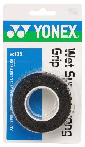 ヨネックス(YONEX) テニス バドミントン グリップテープ ウェットスーパーストロンググリップ(3本入) ブラック AC135
