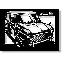 BMC モーリス ミニクーパーの切り絵(2) A4サイズ