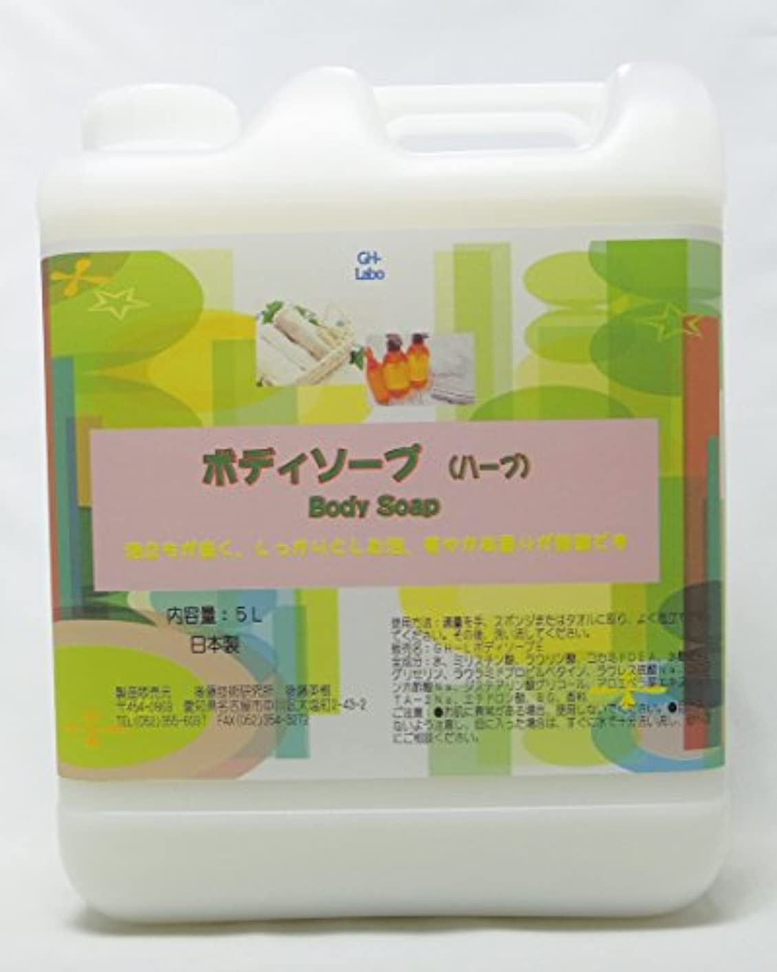 洪水浸食プレフィックスGH-Labo 業務用ボディソープ ハーブ(セージ)の香り 5L