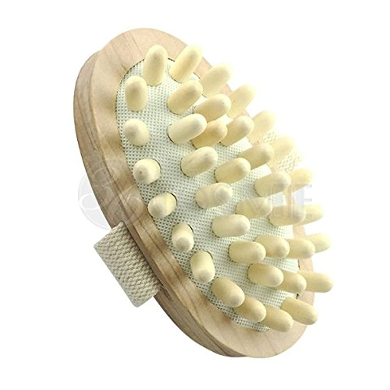 代わりに多様体支出スリミングウッドブラシ(木製)セルライト対策に ボディマッサージ専用ブラシ