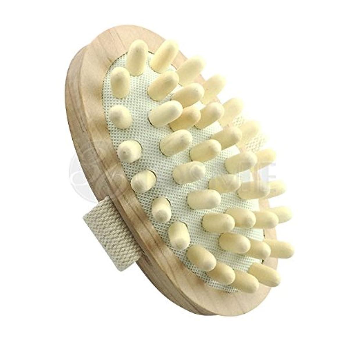 ブラインド国籍小包スリミングウッドブラシ(木製)セルライト対策に ボディマッサージ専用ブラシ