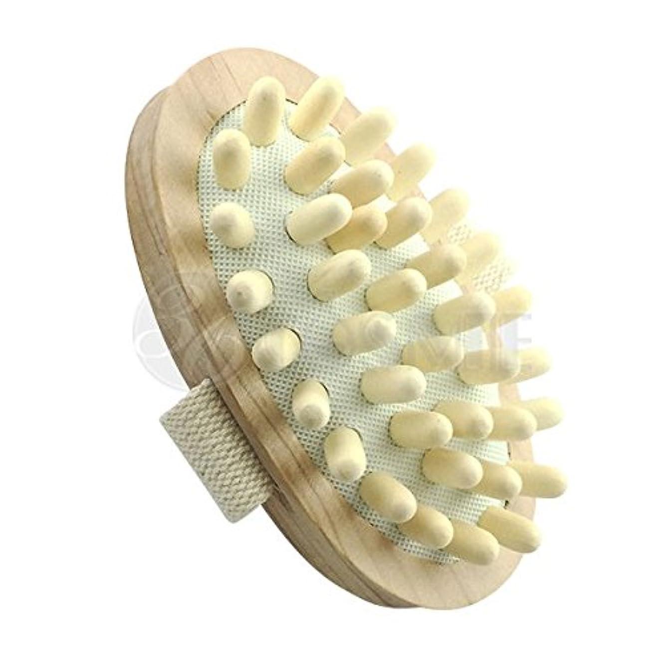 強います野菜小道具スリミングウッドブラシ(木製)セルライト対策に ボディマッサージ専用ブラシ