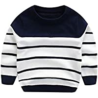 WeddingPach Kids Boys Knitting Sweater Baby Cotton Stripe Cardigan 1-5T