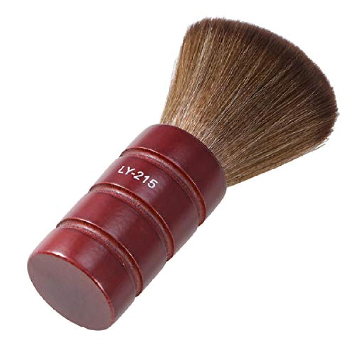 ピストン頻繁に子孫Lurroseプロフェッショナルヘアカットブラシソフトファイバーフェイスネックダスターブラシ理髪サロン理容ツール