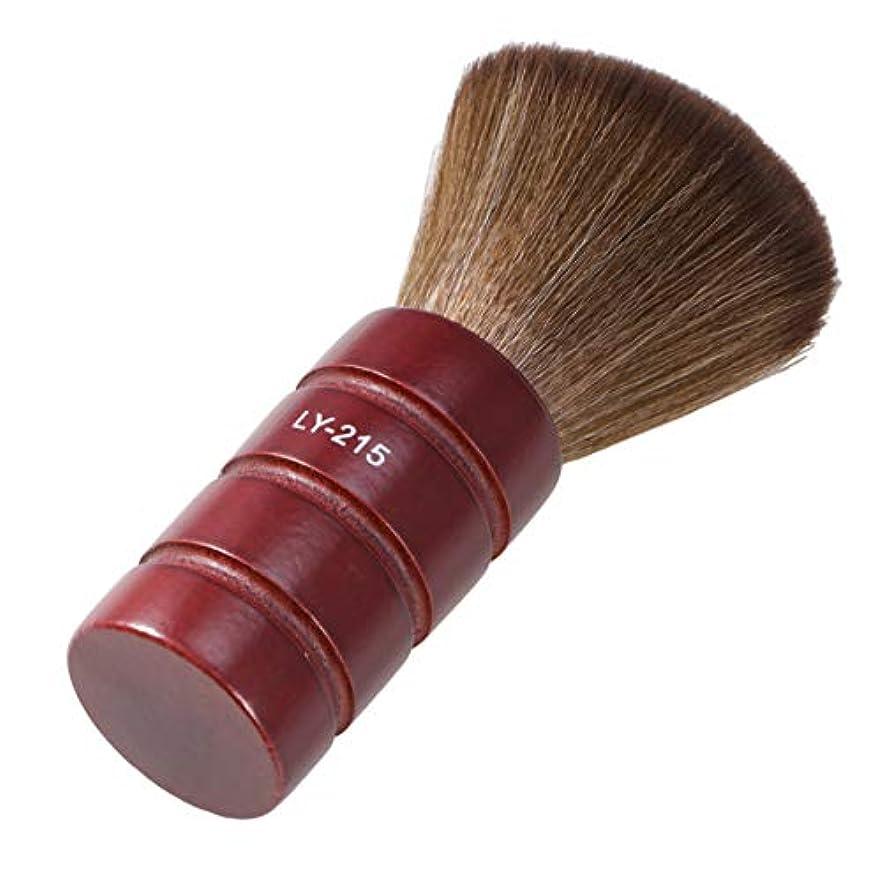 発音であるジャグリングLurroseプロフェッショナルヘアカットブラシソフトファイバーフェイスネックダスターブラシ理髪サロン理容ツール
