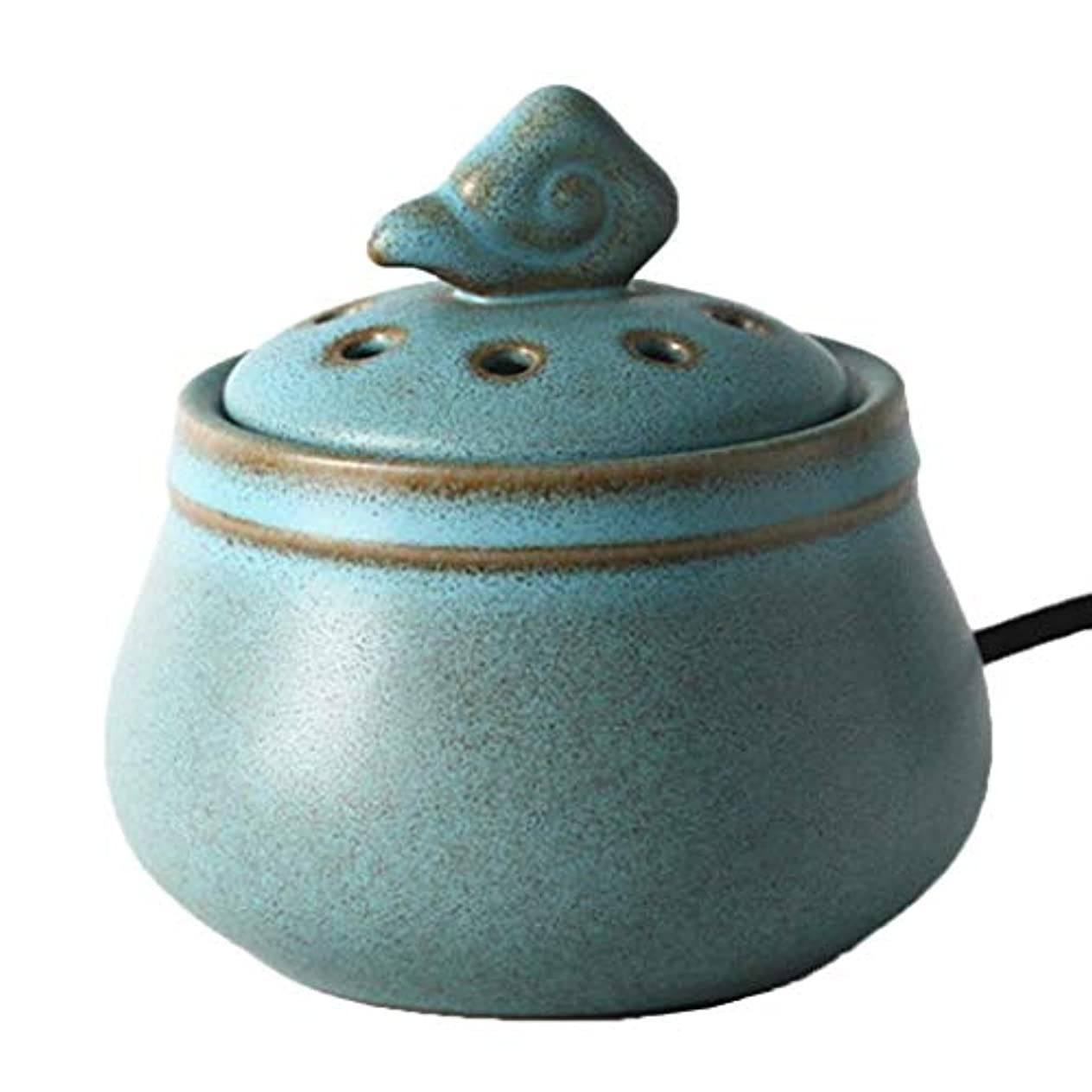 補う意図強いMYTDBD 多色アロマディフューザーホームセラミック電気炉ディフューザー香炉 (Color : Blue, Size : A)