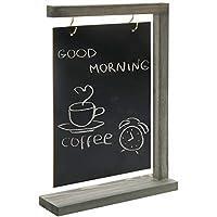 MyGift 素朴なグレー木製卓上吊り下げ黒板サイン