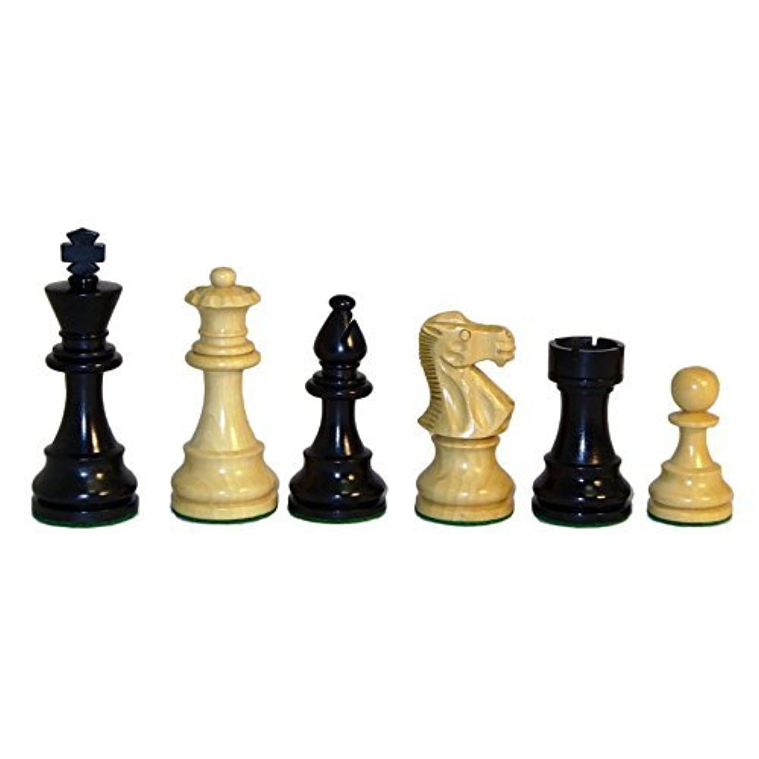 Black and Natural Boxwood Chess Pieces by World Wise Imports [並行輸入品]