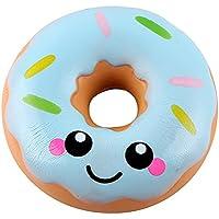 Archangel Smile 11cm かわいいドーナツクリームの香り付き スクイーズ ゆっくり元に戻る スクイーズおもちゃコレクション Size: 16x9cm/6.3''X3.45'' ブルー L