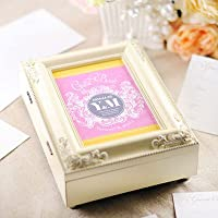 名入れ芳名帳「フラッシーピンク」アンティーク芳名BOX /結婚式ゲストブック