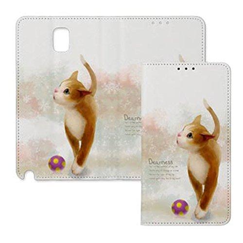 Galaxy S4 / ギャラクシー S4 (SC-04E) 対応 ケース Lovely Cat Flip Wallet ラブリーキャット フリップ ウォーレット ケース スマホ カバー Ball / ボール