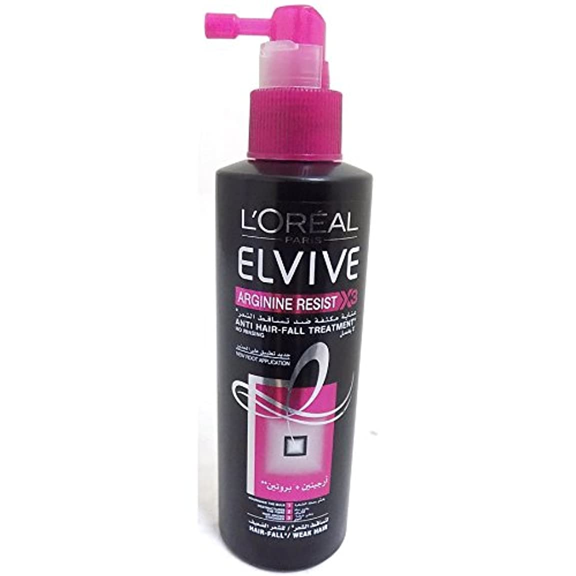 行政うがい欠陥L 'Oreal elseve Homme Arginin Resist Hair Care Hair Loss Treatment Anti Hair Fall - 200 ml