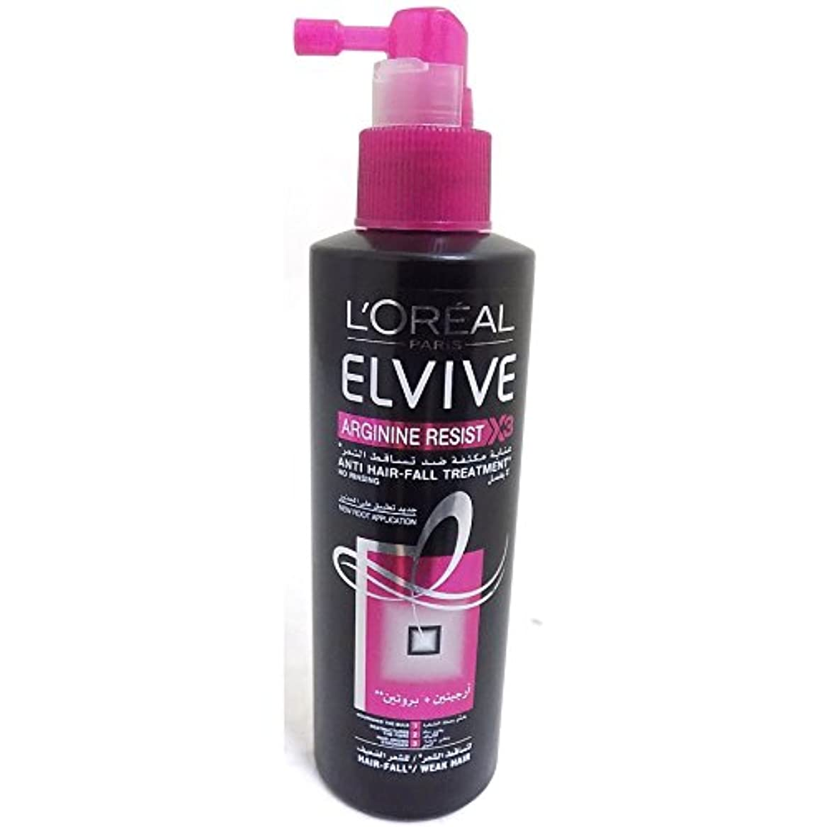 レギュラー固執フィードオンL 'Oreal elseve Homme Arginin Resist Hair Care Hair Loss Treatment Anti Hair Fall - 200 ml
