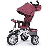トロリー - 多機能三輪トロリー、折りたたみ式折りたたみ式ペダル車、シート回転式トロリー (色 : 赤)